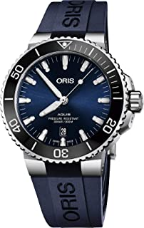 Oris Aquis Date Automatic Blue Dial Stainless Steel with Rubber Strap Men`s Watch