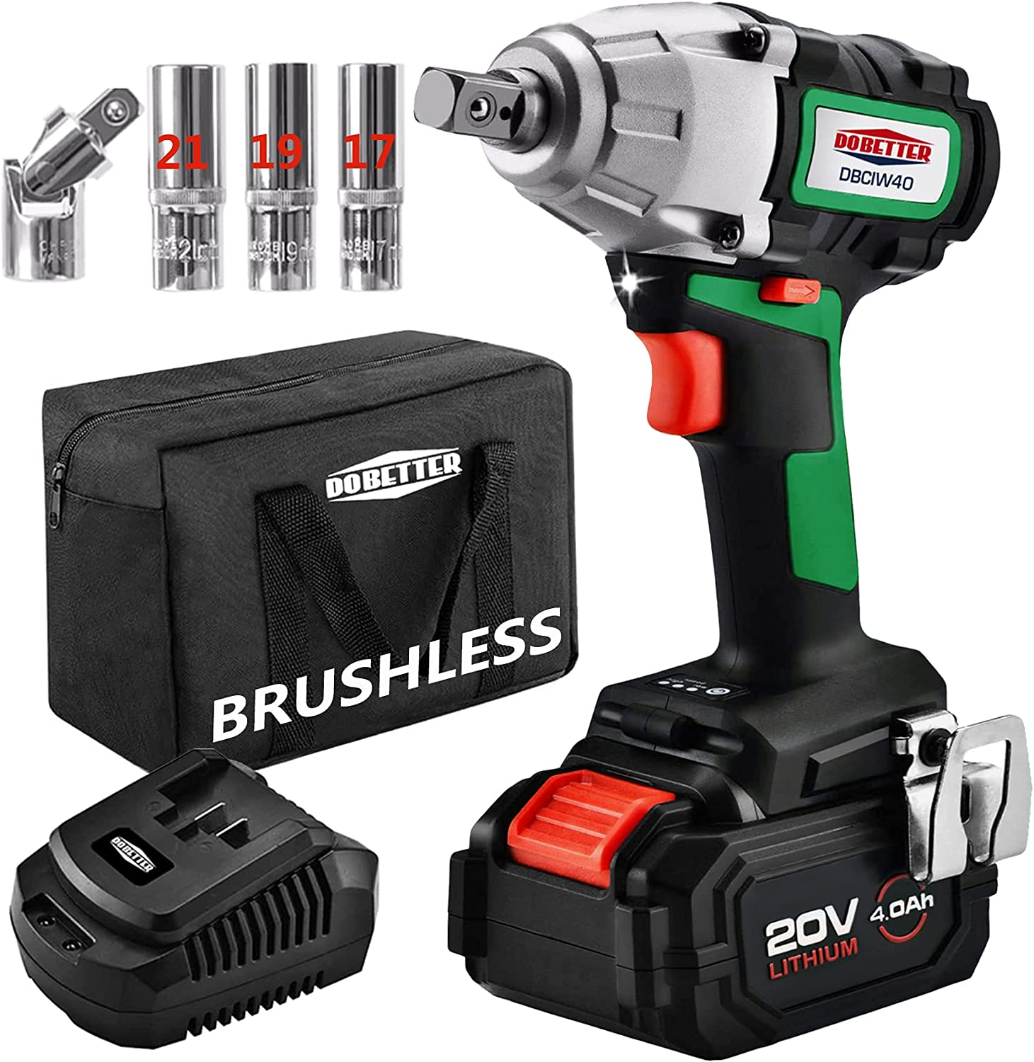 Cordless Impact Beauty products Wrench Brushless 4Ah 2 Electric 1 Special price