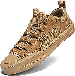 COOPCUP Zapatillas de deporte de los hombres con cordones zapatos al aire libre ligeros cómodos zapatos casuales masculino...