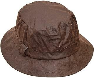 Walker & Hawkes - Uni-Sex Wax Bush Bucket Fishing Country Hat - Brown