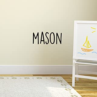 Boys Custom Name Vinyl Wall Art Sticker Decal - 'Mason' Custom Name 12