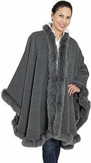 Baby Alpaca Fur Cape Wrap Poncho