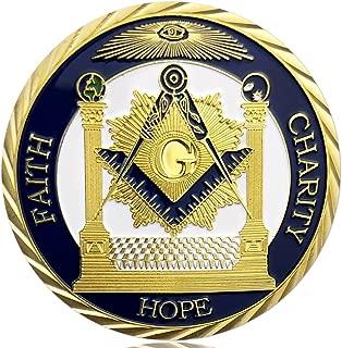 Gold Plated Master Mason Symbol Proud Freemason Challenge Coin