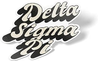 Delta Sigma Pi 70's Sticker Decal Greek for Window Laptop Computer Car (Design 3)