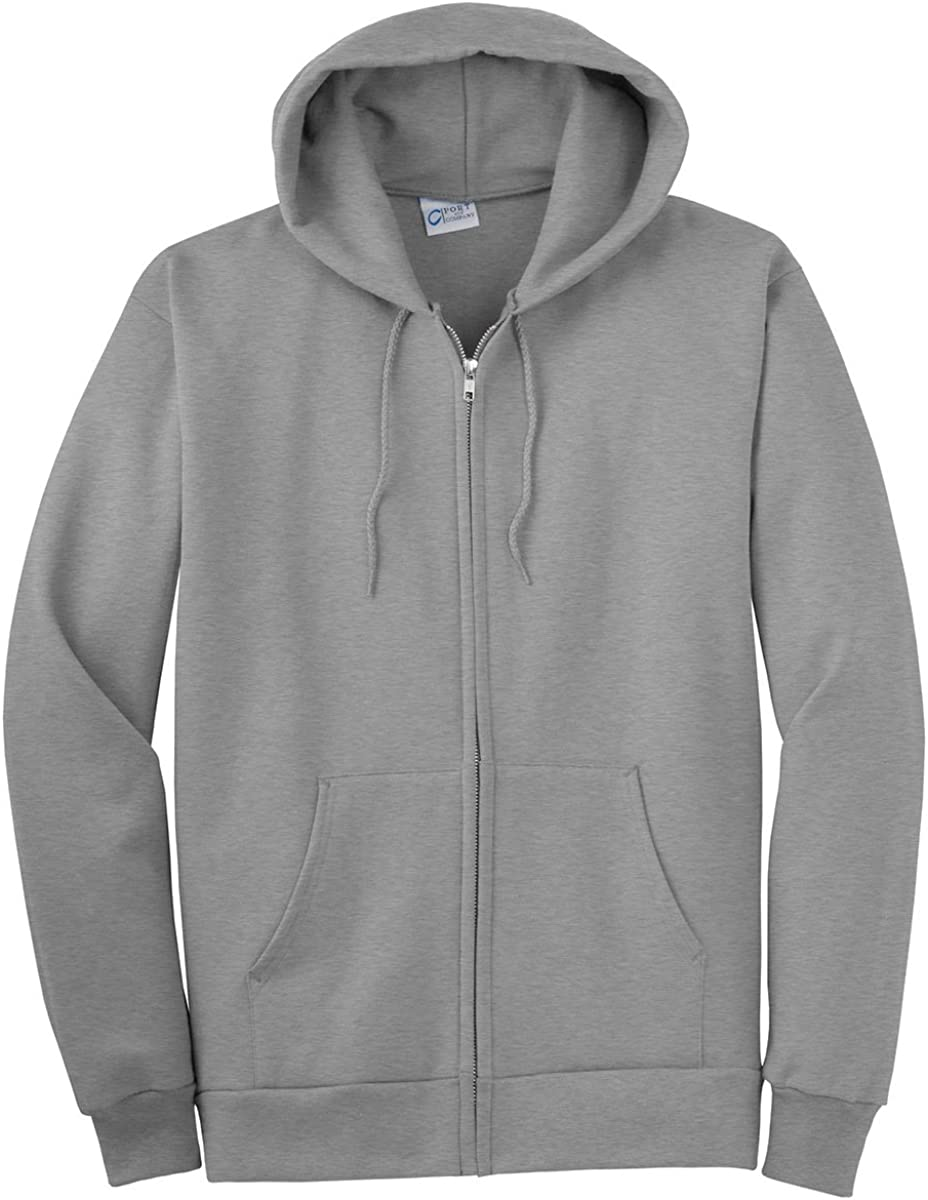 Port & Company Tall Ultimate Full Zip Hooded Sweatshirt-2XLT (Athletic Heather)
