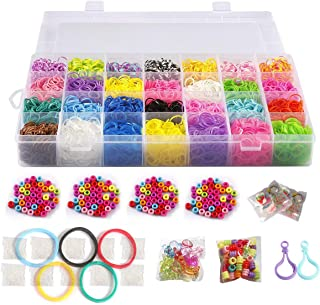 Yoodelife 4000 pcs Water Beads Kit 24 Colors Water Fuse Beads Toy No Ironing Beads for Kids Beginners DIY Crafts Projects