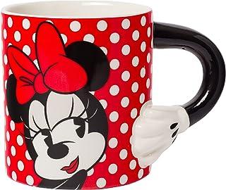 Silver Buffalo Disney Minnie Mouse 20 Ounce Sculpted Handle Mug, Red/Black, DL1402E5