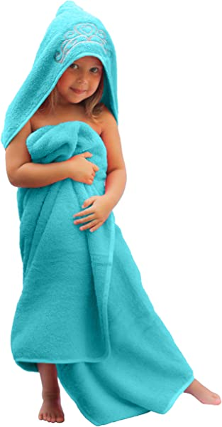 Ultra Homes Princess Hooded Kid Towel Ice Blue 27 5 X 49 Plush And Absorbent Luxury Bath Towel 600 GSM 100 Cotton