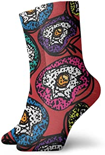 Vintage Fried Scrambled Eggs Pattern Socks Colorful Cool Sport Running Calcetines For Men Women