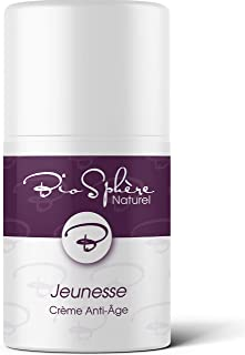 Organic Face Lotion for Women with 7x Organic Anti Aging Complex - Natural Anti Wrinkle Moisturizer for Face, Eyes, Neck - Natural Rose Scent - Jeunesse Creme Anti Age by BioSphere Naturel