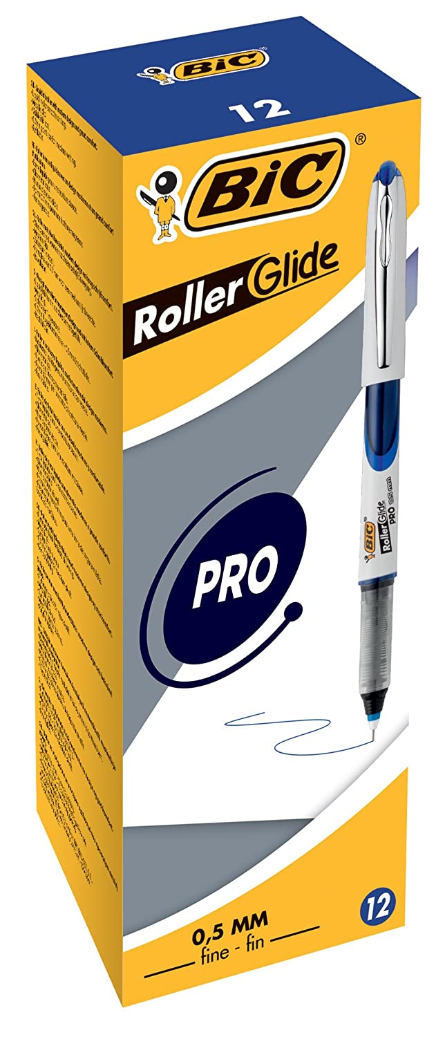 BiC 537r 0.5mm Needlepoint Tip Liquid Ink Roller Pen - Assorted Colours_Parent 0.5mm - Box of 12