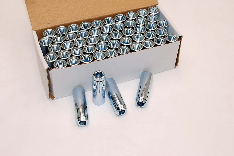 50 Drop-in 1 2 x Concrete Expansion 8 Gorgeous Latest item Drill 5 Pl Anchor Zinc