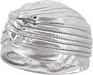Vimoisa Unisex Metallic Turban Hat Headwrap Chemo Cap Indian Hat Yoga Cap