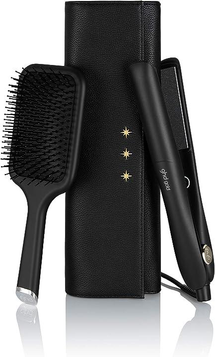 Set piastra per capelli con astuccio e paddle brush, nero ghd gold gift 99350070805