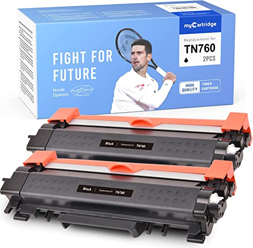 popular MYCARTRIDGE Remanufactured Toner popular Cartridge Replacement for Brother TN760 TN-760 TN 760 for HL-L2370DW 2021 HL-L2350DW MFC-L2710DW DCP-L2550DW MFC-L2750DW HL-L2390DW HL-L2370DWXL (2 Black) outlet sale
