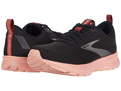 Brooks Revel 4 (Black/Marsala/Lobster) Women