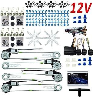 YUNRUX 12V Universal Elektrische Fensterheber Fensterheber-Nachr/üstkit f/ür 2 T/üren Nachr/üsten mit Zubeh/örsatz
