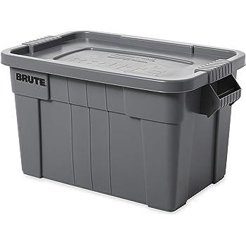 Rubbermaid Commercial Products Brute Tote - Caja de almacenamiento con tapa, capacidad de 75.5 litros, gris: Amazon.es: Industria, empresas y ciencia