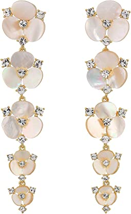 Disco Pansy Statement Drop Earrings