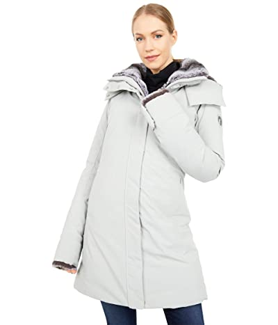 Save the Duck Faux Fur Lined Parka with Removable Hood (Frost Grey) Women