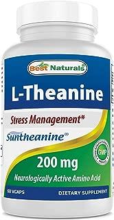 BEST NATURALS L-theanine 200 mg 60 Veggie Capsules