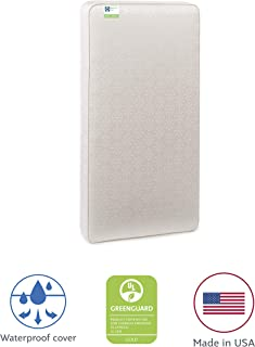 """Sealy Baby Flex Cool 2-Stage Airy Dual Firmness Waterproof Standard Toddler & Baby Crib Mattress, 51.7""""x 27.3"""