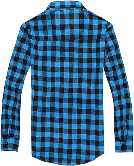 Camisa Hombre Joven,Camisa Hombre Cuadros Manga Larga ...