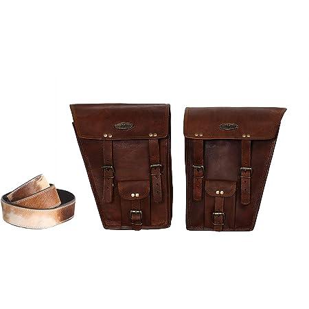 2 X Motorrad Seitentasche Satteltaschen Aus Braunem Leder Satteltaschen Satteltaschen 2 Taschen Motorrad Fahrrad Fahrradtasche Buffalo Leder Kameragürtel Bekleidung