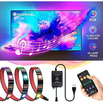 2M 5M USB Power RGB 5050 LED Strip TV Computer Background Light Music Controller