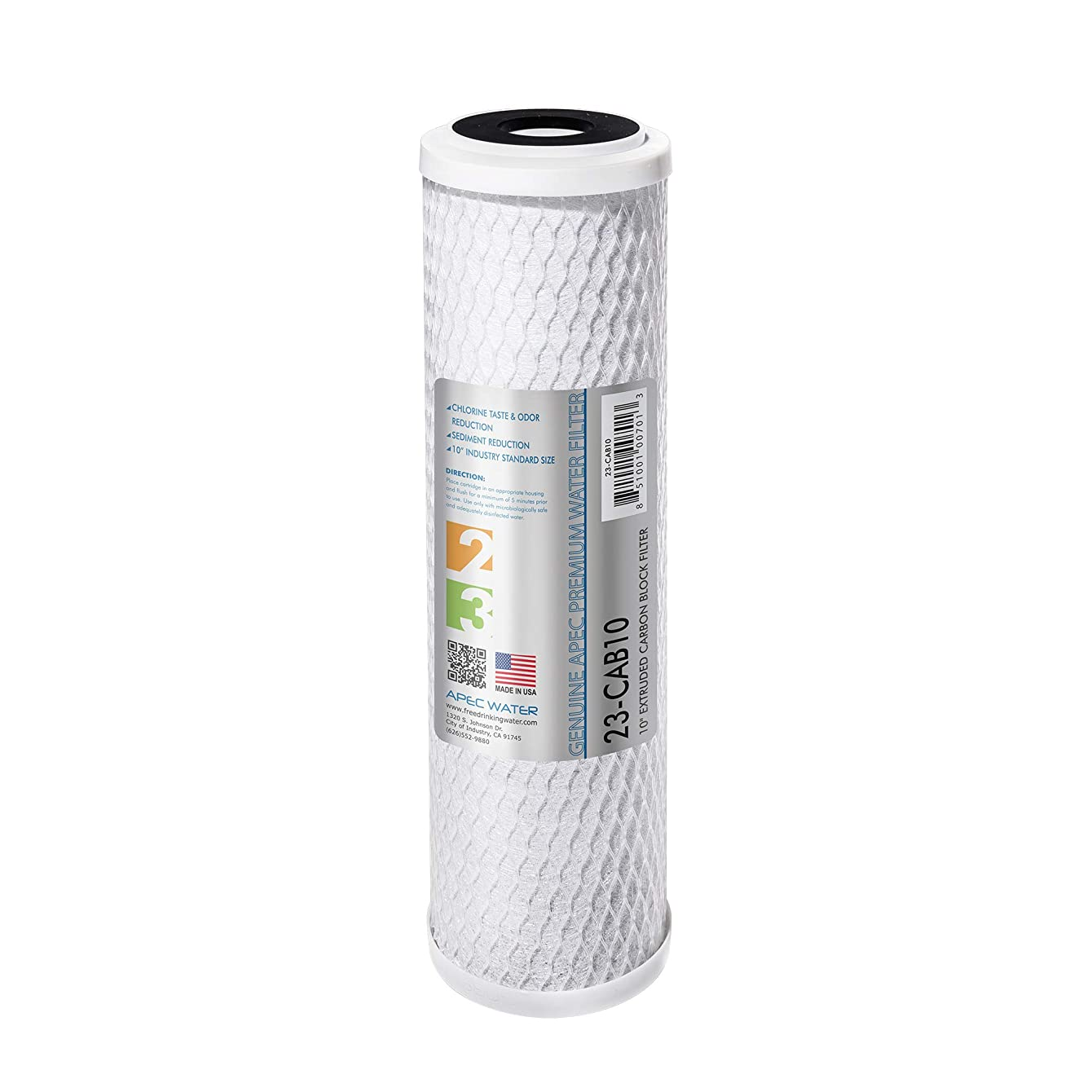 "APEC 23-CAB10 US MADE 10"" x 2.5"" Carbon Block Water Filter For Reverse Osmosis System"