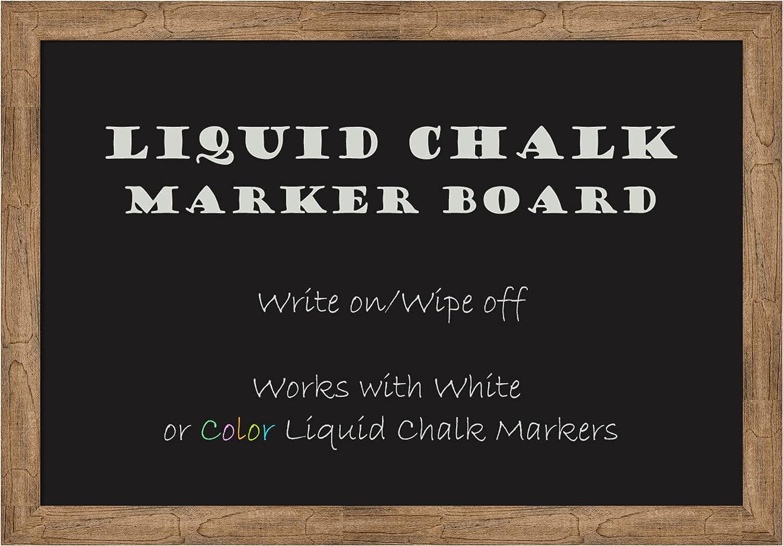 Framed Liquid Chalk Marker Board   Farmhouse Framed Home Office