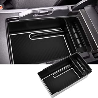 SKTU Center Console Organizer Compatible with 2021 Venza Accessories Insert Toyota ABS Black Materials Tray Armrest Second...