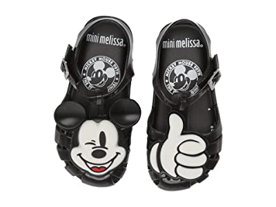 Mini Melissa Mini Aranha + Mickey (Toddler/Little Kid) (Black) Girls Shoes