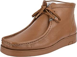Liberty Wallabee Mens Boots Genuine Leather Moccasin Toe Chukka Lace Up Casual Shoes