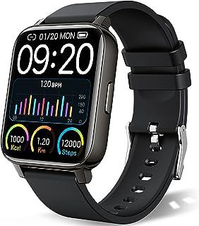 """Chalvh Smart Watch, Fitness Tracker 1.69"""" pantalla táctil compatible con iPhone Android, IP67 impermeable Smartwatch con monitor de ritmo cardíaco y monitor de sueño, rastreador de actividad podómetro para hombres y mujeres"""