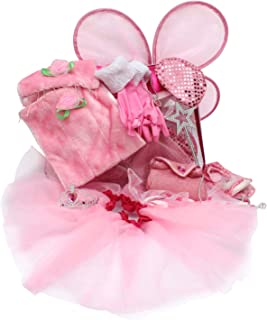 Toiijoy Girls Princess Dress up Set 15Pcs Fairy Princess Role Play Costume Set Carry Bag Toddler Kids Ages 3-6yrs