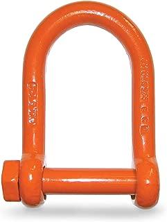 CM M7154P Long Reach Screw Pin Shackle   1-Inch Diameter   19,000 Lb. Working Load Limit   Alloy Steel Orange Powder Coated Finish   5:1 Design Factor
