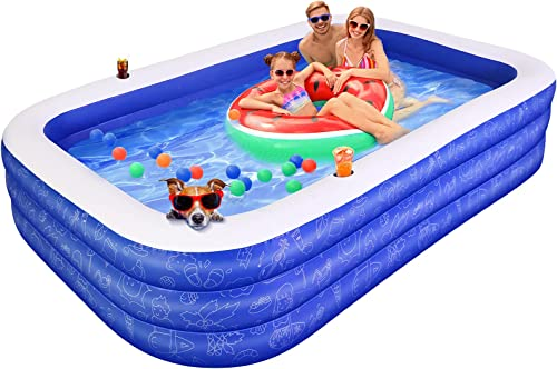 """discount Inflatable Swimming Pool for Kids,120""""x72""""x22"""" discount Full-Sized Family Swim & wholesale Ball Pool for 2 3 4 5 Years Old Kids and Adults, Summer Swim Center for Garden and Backyard online"""