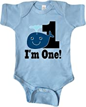 inktastic 1st Birthday Boy Whale 1 Year Old Infant Creeper