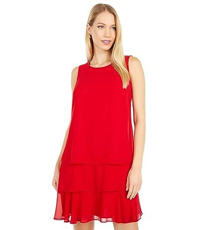 LAUREN Ralph Lauren Tyree Sleeveless Day Dress (Orient Red) Women