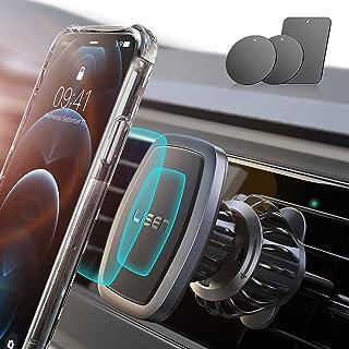 LISEN Support Téléphone Voiture, Clip Améliorer 2021 [6 Super Aimants Puissants] Support Aimant Telephone Voiture [Case Fr...