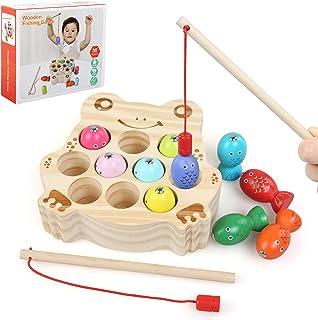 BelleStyle Juguete de Pescar, Juego de Pescar para Niños, Puzzle de Pesca magnetico, Juegos de Mesa de Pesca con 2 Cañas d...