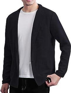 JIANSU メンズ ジャケット カジュアル ニットトップス テーラード 細身 ストレッチ ジャケット 春秋冬 大きいサイズ
