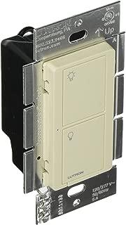 Lutron Series PD-5WS-DV-LA, Button switch, Light Almond