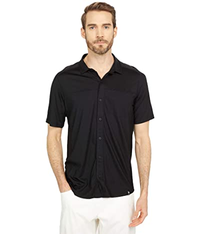 Smartwool Merino Sport 150 Short Sleeve Button Down (Black) Men