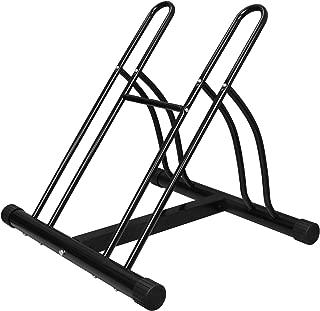 F2C 2-Bike Rack Bicycle Floor Stand Two Bike Parking Garage Storage Rack for Indoor and Outdoor