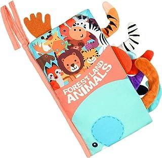 Vicloon Baby zachte boeken, Baby baddoek boek, rustige boeken voor 0-3 jaar oude peuters kinderen, eerste jaar 3D dieren s...