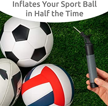 Sports Stable Ball Pump with 5 Spare Needles Dual-Action Air Pump for Your Basketball, Football, Soccer Ball, Volleyb...