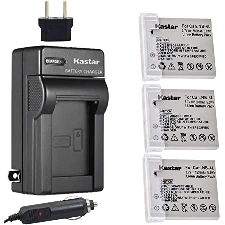 See description Canon CB-2LV Charger for NB-4L Li-ion Battery Canon PowerShot SD40 SD30 SD200 SD300 SD400 SD430 SD450 SD600 SD630 SD750 SD780 IS SD940 IS SD960 IS and many more