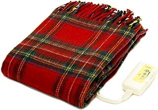 ライフジョイ 日本製 電気毛布 ひざ掛け 洗える あったかブランケット かわいい 大判 160cm×82cm レッド JBH161-R